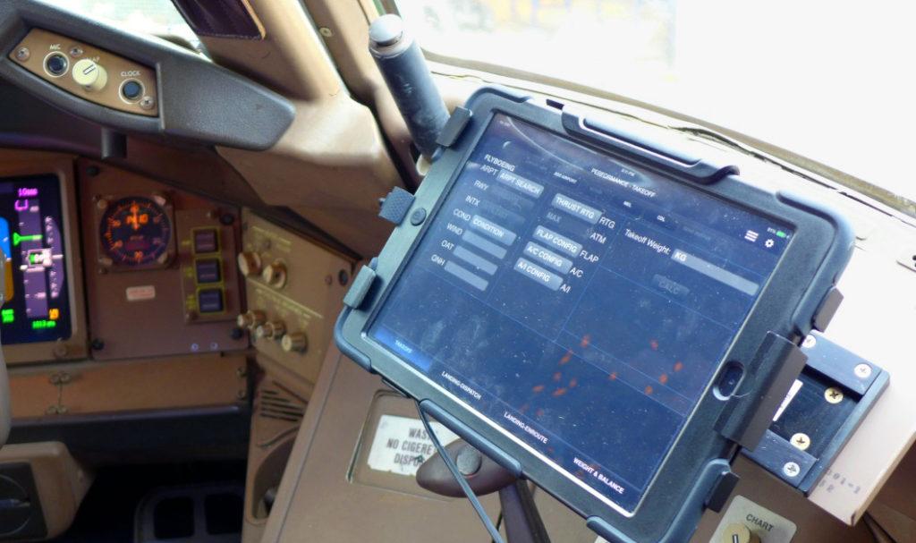 A330 with iPad and Cradle Survivor
